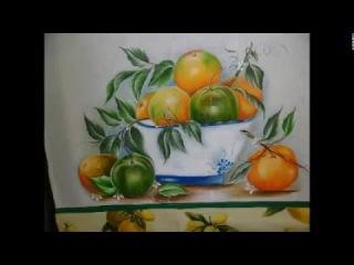 como pintar laranja madura e verde