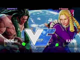 ADyBaH4uK (Necalli) vs Goroson (Karin) -  - SFV - Road to MFA 2016
