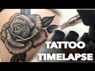 TATTOO TIME LAPSE / BLACK N GREY / ROSE / CHRISSY LEE