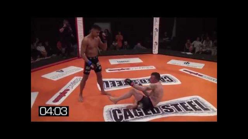 Muay Thai World Champion Panicos Yusuf in MMA | Brutal Leg Kicks KO