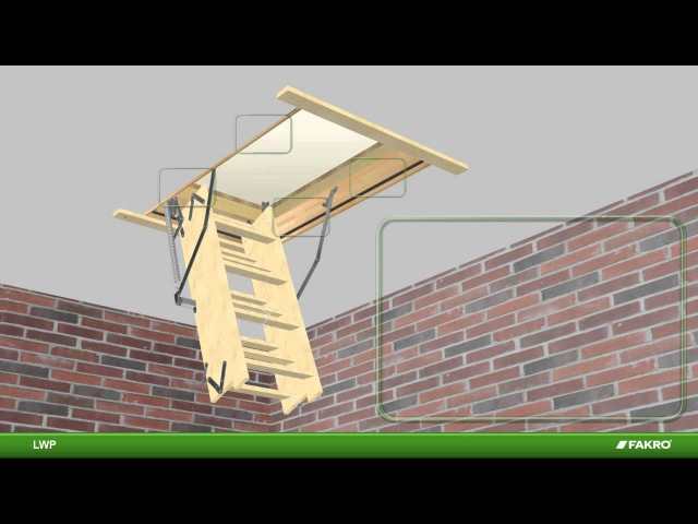 LWP LWS P Fakro Attic Ladder Instructional Video
