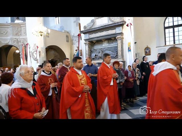 Костел св. Варфоломія у Дрогобичі, святкування храмового свята.