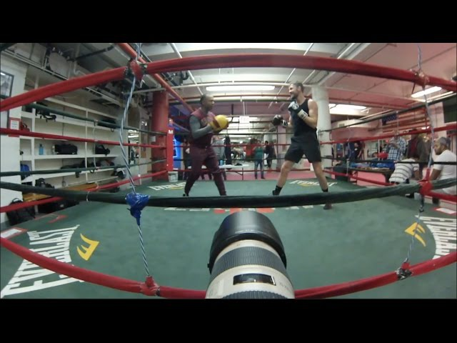 ANDY LEE OFFICIAL WORKOUT IN NEW YORK AHEAD OF FIGHTING ON GOLOVKIN v JACOBS UNDERCARD
