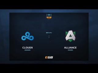 Cloud 9 vs Alliance, Game 1, Dota Summit 7, EU Qualifier