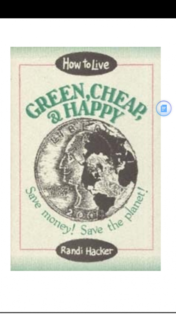 how to live green cheap and happy