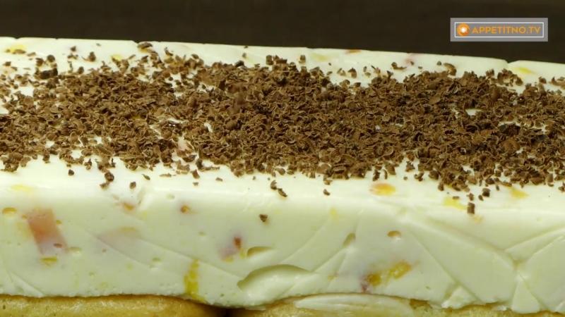 """Невозможно оторваться Творожный торт с печеньем Савоярди"""" и шоколадом"""