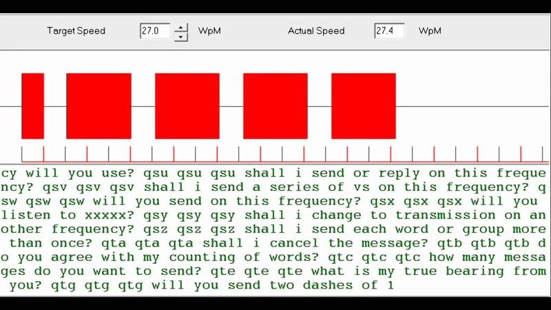 Learn to Read Morse 'Q' Codes 27 wpm