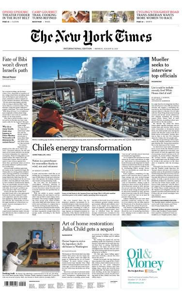 International New York Times 14 August 2017