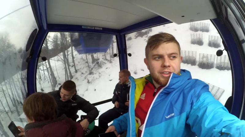 Зимний вечер в Гаграх Олимпийский Парк Роза Пик высота 2320 метров Бассейн в горах СвязьКороче Сочи Часть 1