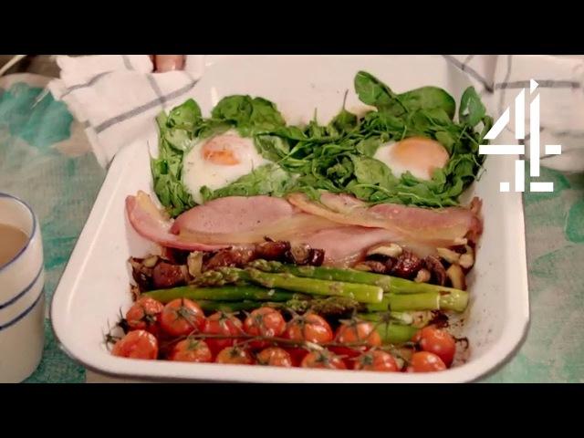 One Pan Full Monty Alternative Full English Breakfast Eating Well with Hemsley Hemsley