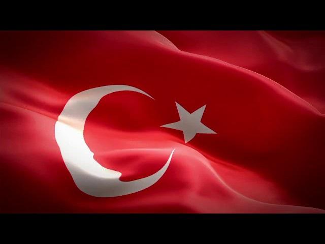 Dalgalanan Türk Bayrağı ve İstiklal Marşımız