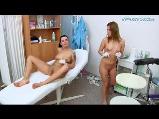 Gyno-X Laura & Leony 1 (part 2) [Doctor, Anal checkup, Medical Fetish, Gyno Exam, Lesbian, Close Ups, Checkup with enema]