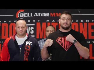 The headliners for Bellator 172 face-off at media day the headliners for bellator 172 face-off at media day