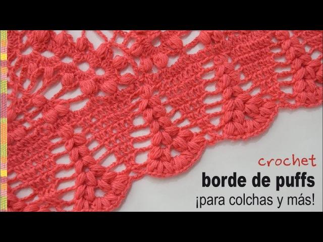 Borde de puffs tejido a crochet para colchas de bebés y más - Tejiendo Perú