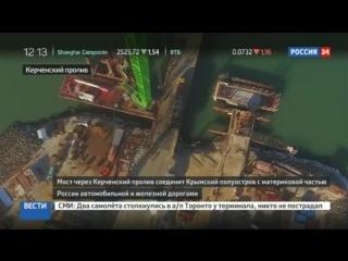 Строители Крымского моста завершили половину свайных работ