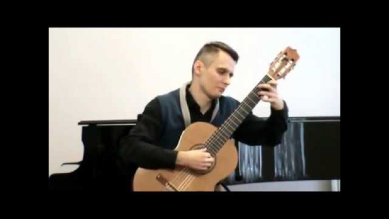 Leo Brouwer Paisaje Cubano con Fiesta Eugene Sapsalyov guitar