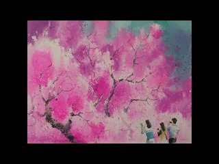 choeSSi art studio/landscape watercolor painting- cherry blossoms /최병화 수채화(벚꽃)