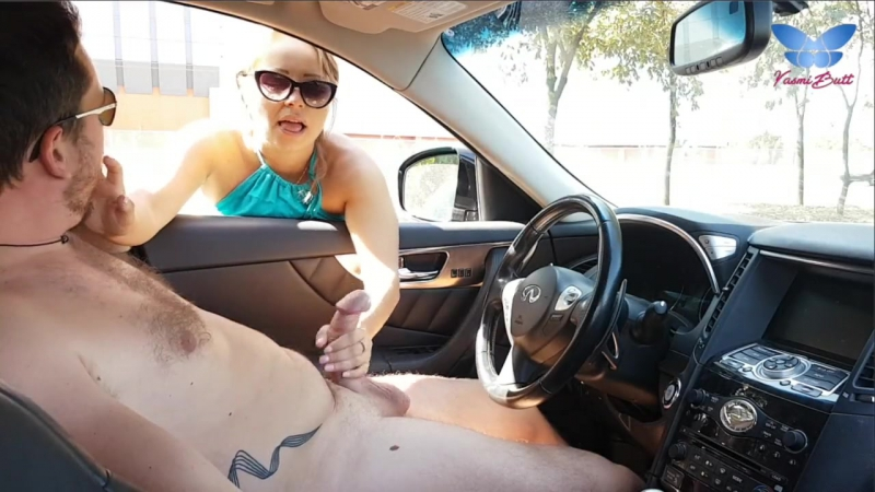 [My Russian Hot Mom] CUTE BLONDE GIVES ME NICE HANDJOB IN PUBLIC STREET AND MILKS BIG COCK DRY