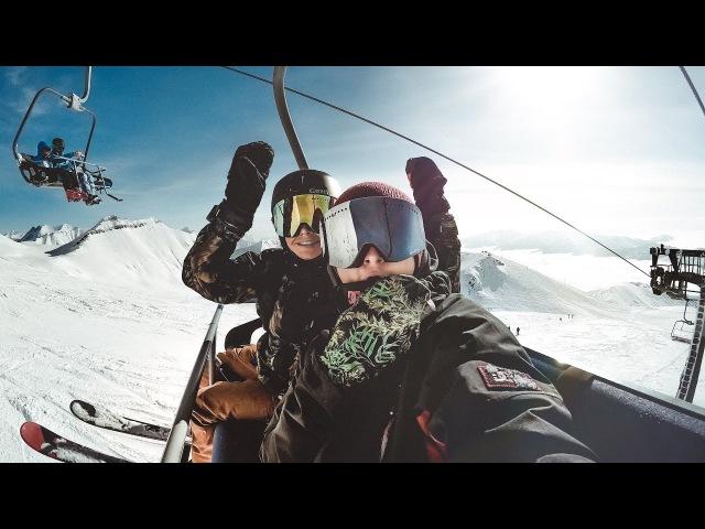 Катаемся в режиме нон стоп Нашли сноупарк Night ride Gudauri Ski Resort Pasha Dolenko Vlog 2018