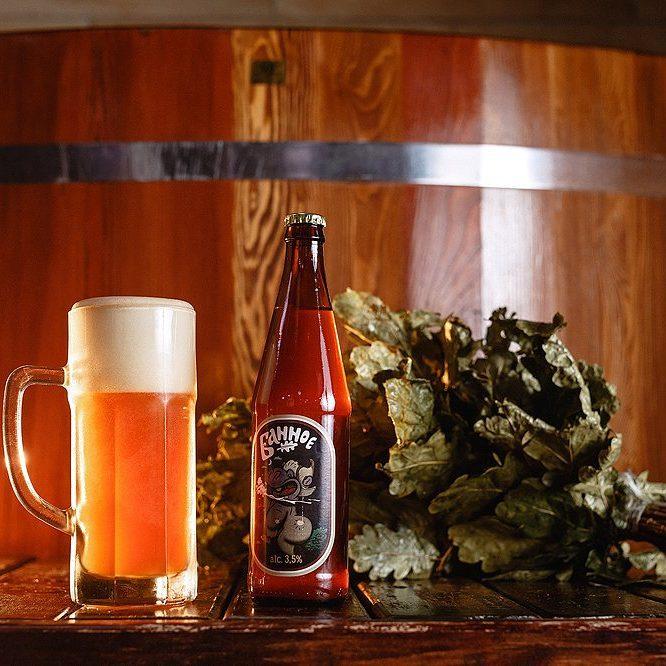 Картинки баня пиво