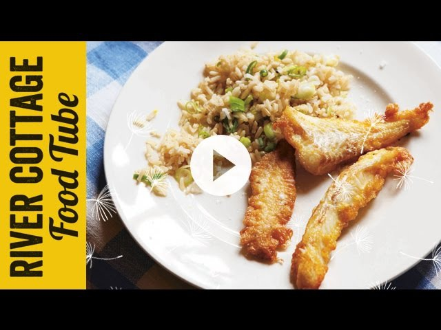 Eggy Fish Fingers with Spring Onion Rice | Hugh Fearnley-Whittingstall