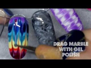 Nail Art | Drag Marble | Gel Polish