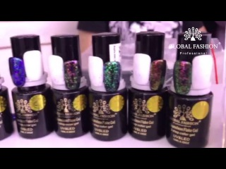 Гель лак с хлопьями хамелеона Chameleon flakes gel polish от Global Fashion