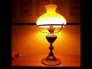 Ретро лампа из люстры