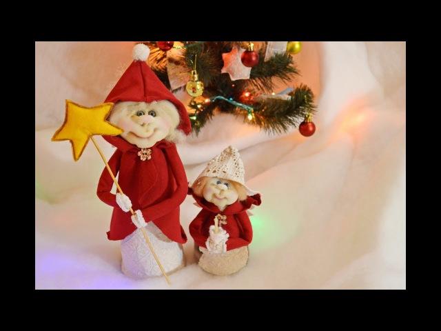 Кукла Рождественский ангел в чулочной технике DIY Christmas Angel Doll