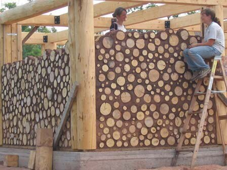Технология глиночурка или по буржуйски - cordwood, изображение №2