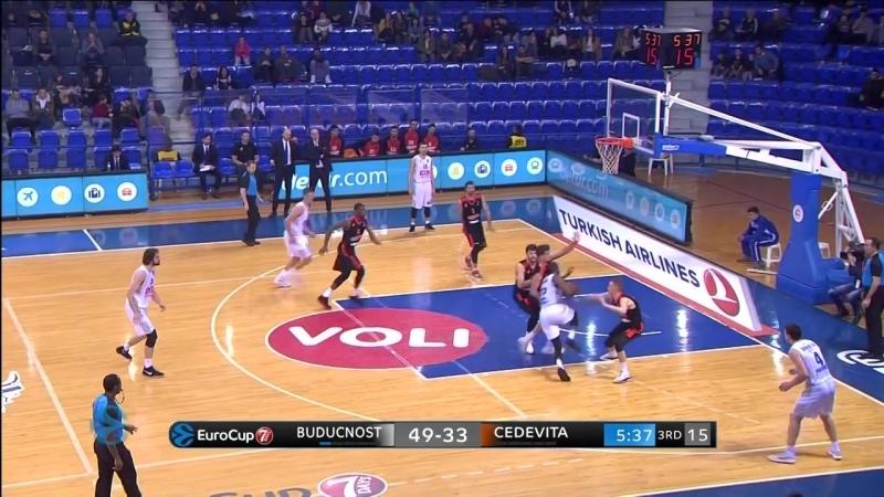 Баскетбол. Еврокубок Будучность 84-52 Цедевита