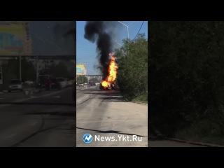 В Якутске взорвался УАЗ Патриот