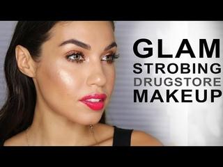 Glam STROBING Makeup using Drugstore | Eman