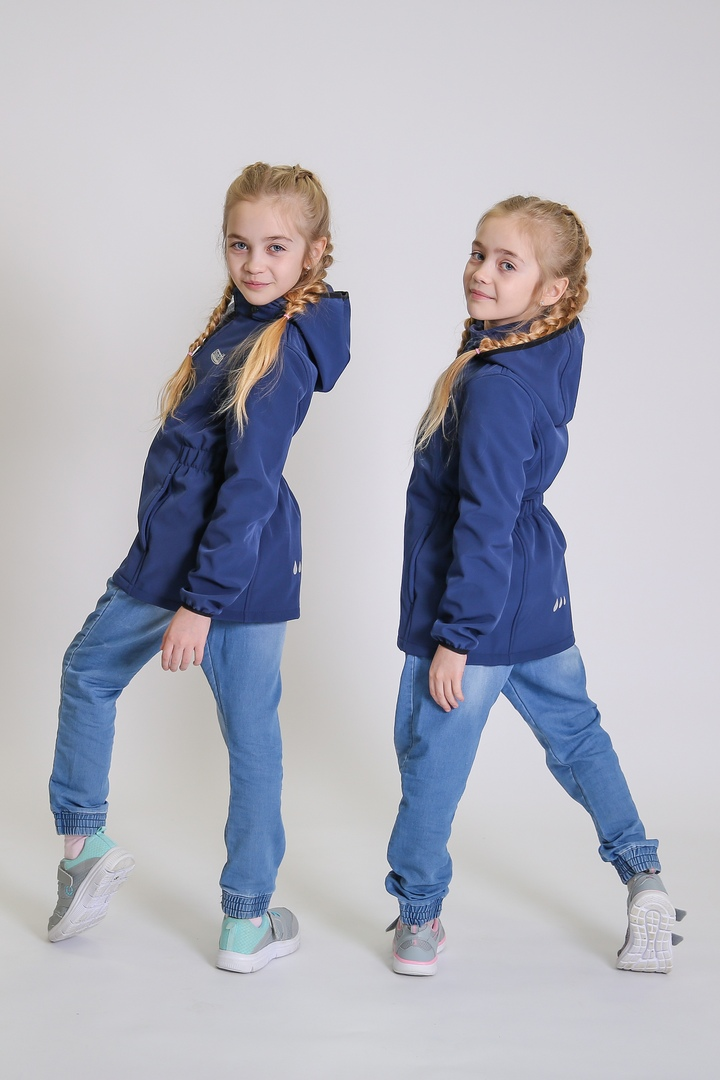 Куртка для девочки Smail ткань Softshell