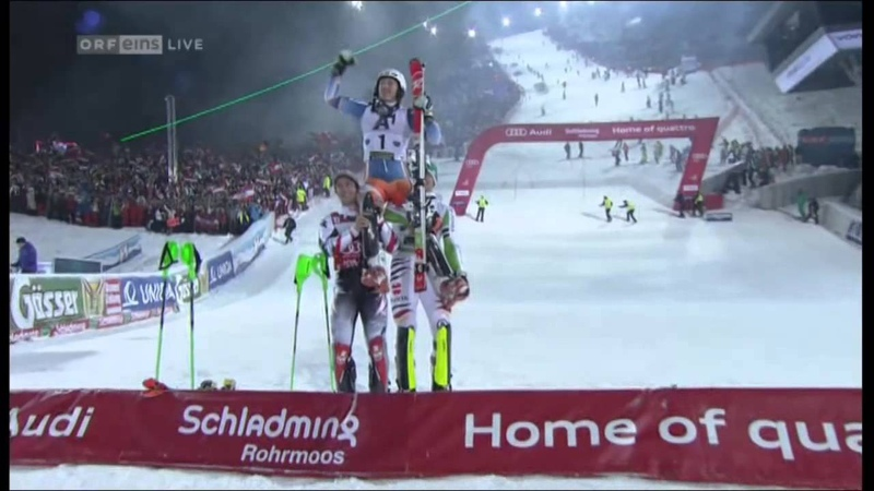 Nightrace Nachtslalom Schladming 2014 Duell Hirscher Neureuther