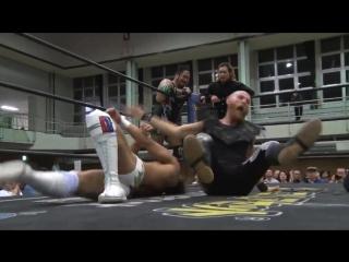 HARASHIMA, Toru Owashi, Yuki Ueno vs. Jason Kincaid, Mizuki Watase, Shigehiro Irie (DDT - Road to Ryogoku 2018)