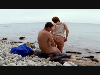Bbw milf`s sex, pee creampie on the beach by katrin porto