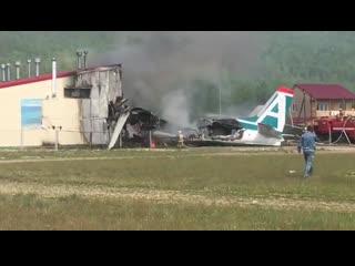 Аварийная посадка пассажирского Ан-24 в Бурятии, есть погибшие