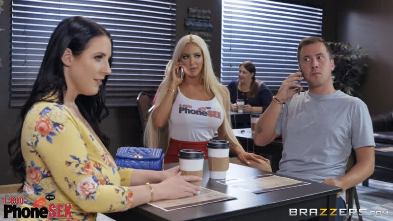 Angela White, Nicolette Shea ( Caught Talking Dirty) 2018, Big Tits, Ass, Deep Throat, Titfuck, Squirt,