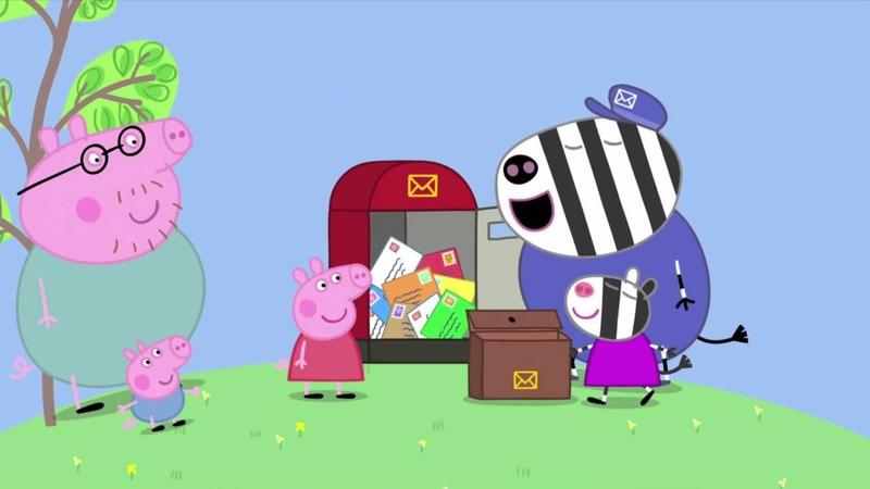 Peppa Pig - Zoë Zebra the Postman's Daughter (28 episode 2 season) [HD]
