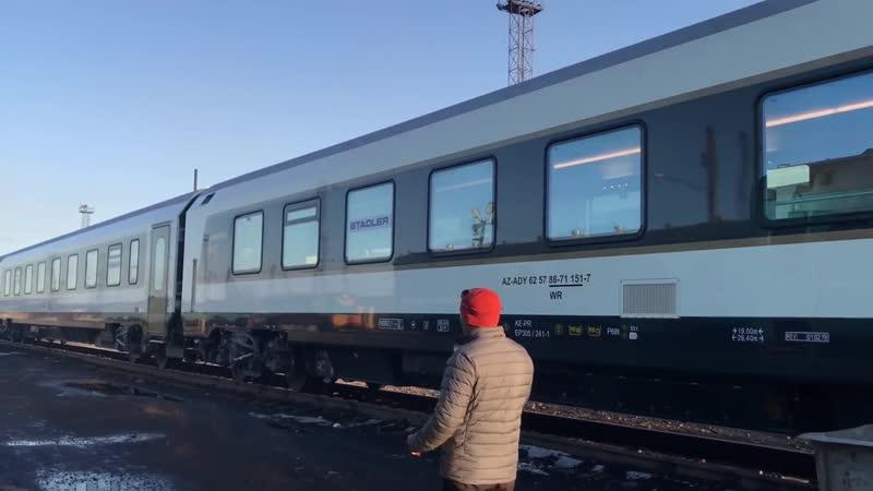 Поезд STADLER в Казахстане Қазақстан темір жолы Казахстанские железные дороги