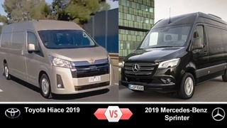 Тойота Хайс 2019 vs Мерседес-Бенц Cпринтер 2019 \ Toyota Hiace vs 2019 Mercedes Benz Sprinter