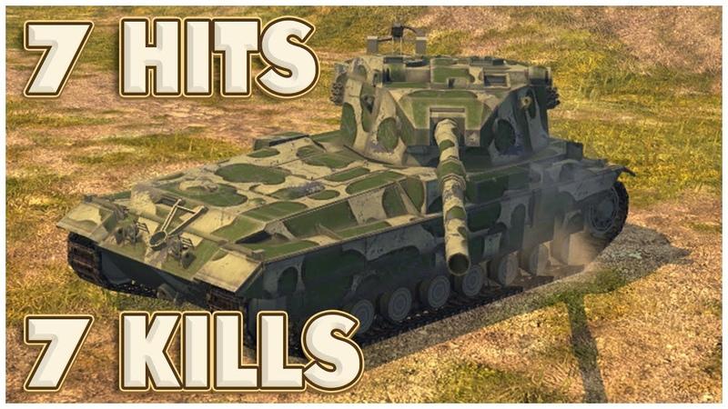 FV215b (183) - 7 ПОПАДАНИЙ - 7 ФРАГОВ • WoT Blitz Replay