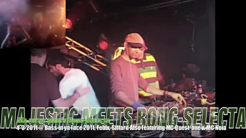 Majestic meets Bong-Selecta @ Bass in ya Face 2011 [FULL Raggajungle SET!]