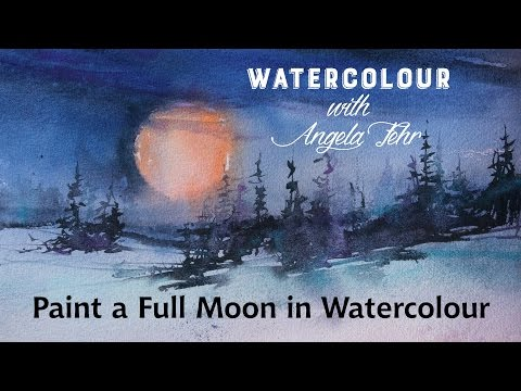 Painting a Full Moon in Watercolour with Angela Fehr