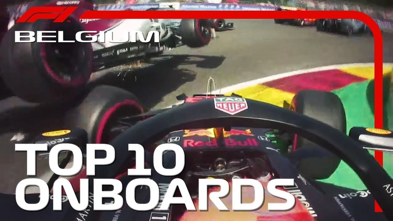 Lap 1 Chaos, Dazzling Passes And The Top 10 Onboards | 2019 Belgian Grand Prix