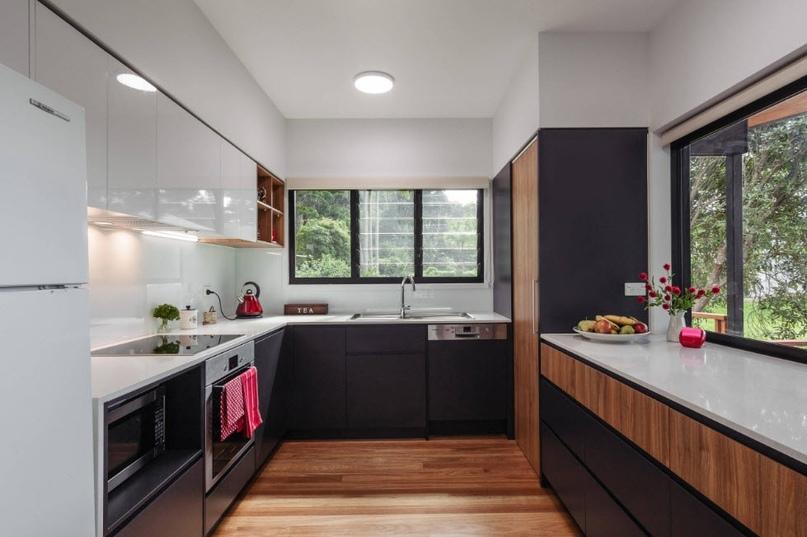 Черно-белая кухня – особенности контрастного дизайна., изображение №7