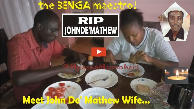 John De Mathew Wife and the Legend Enjoying a meal before perfomance Rest In peace Baba Ciku
