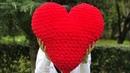 Alize Puffy kalp yastık nasıl yapılır alize puffy mor salkım örgü evi