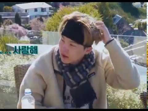 Yoongi said saranghae to Hoseok BON VOYAGE 4